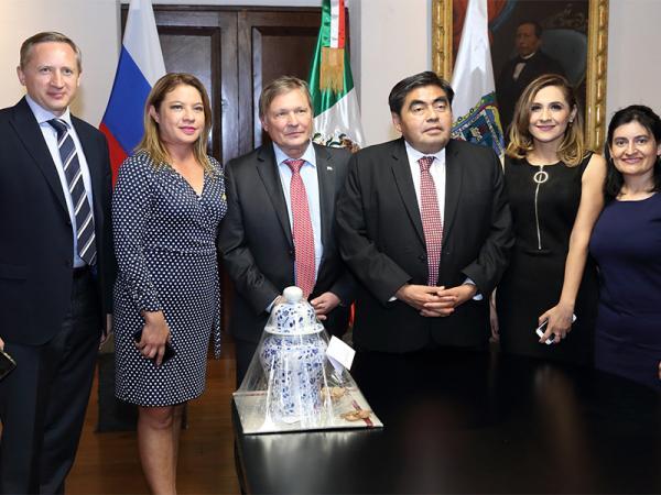 El Gobernador Miguel Barbosa acuerda con embajador ruso instalar en Puebla un Consulado Honorario