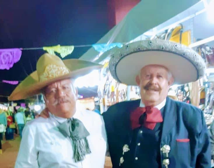 Arsenio Perez Flores y Salvador Sanchez dos amigos charros presentes en el Campeonato Nacional Charro 2019 Michoacan