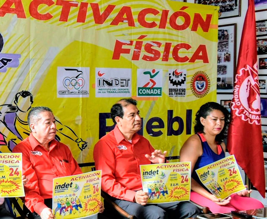 A Mega Evento de Activación Física, Invita INDET Puebla