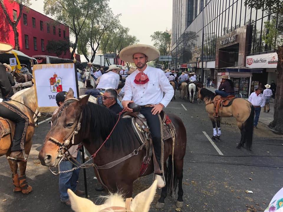 Desfile del 20 de Noviembre Juan Galeazzi Zago integro el Contingente Charro de Puebla