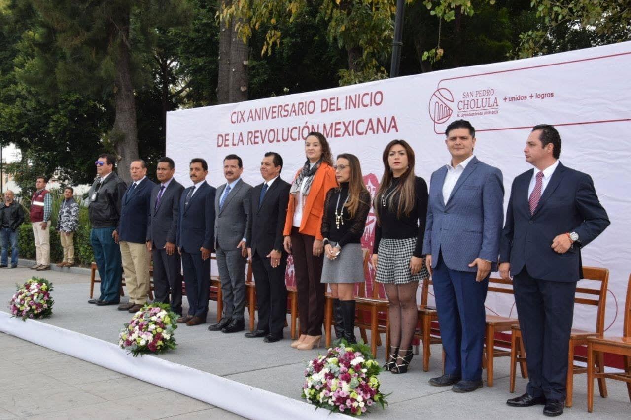 El Gobierno de San Pedro Cholula conmemoro con orgullo el 109 Aniversario del Inicio de la Revolución Mexicana