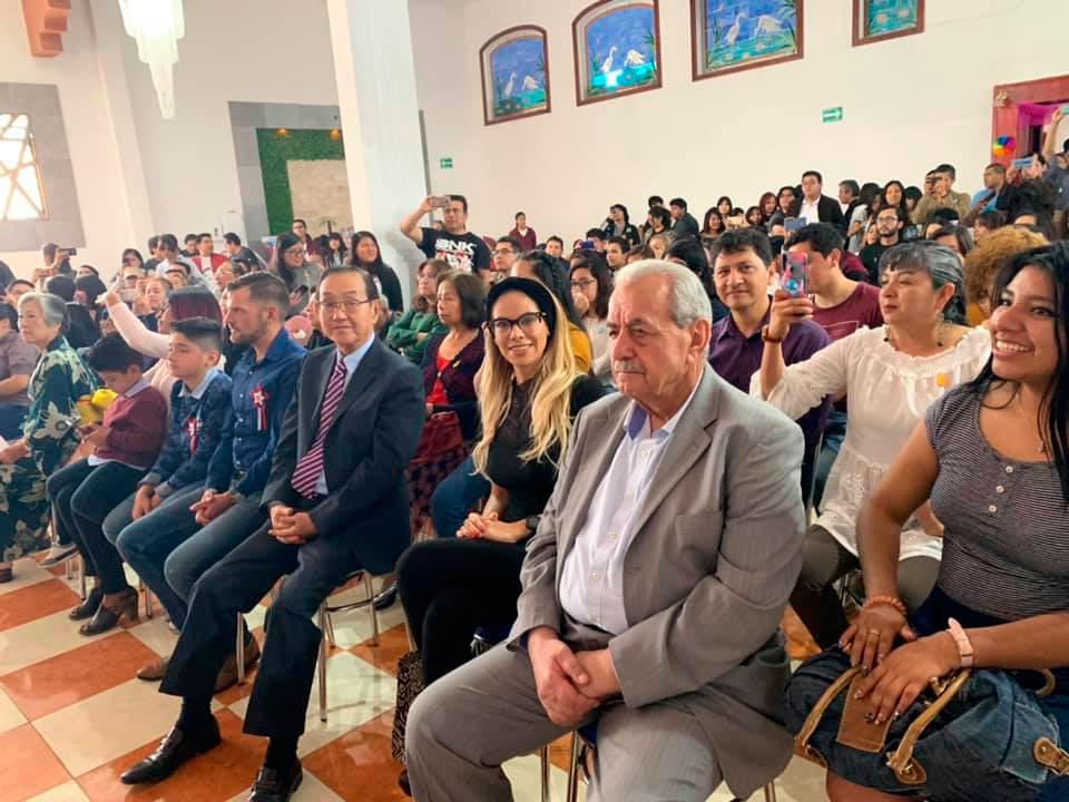 Festival de otoño representado por la comunidad del centro de idioma japonés en Puebla.