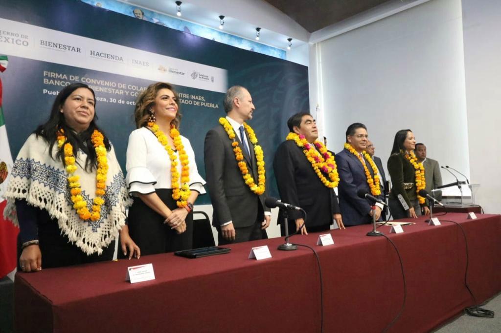 Firma de convenio conBanco del Bienestary elINAES