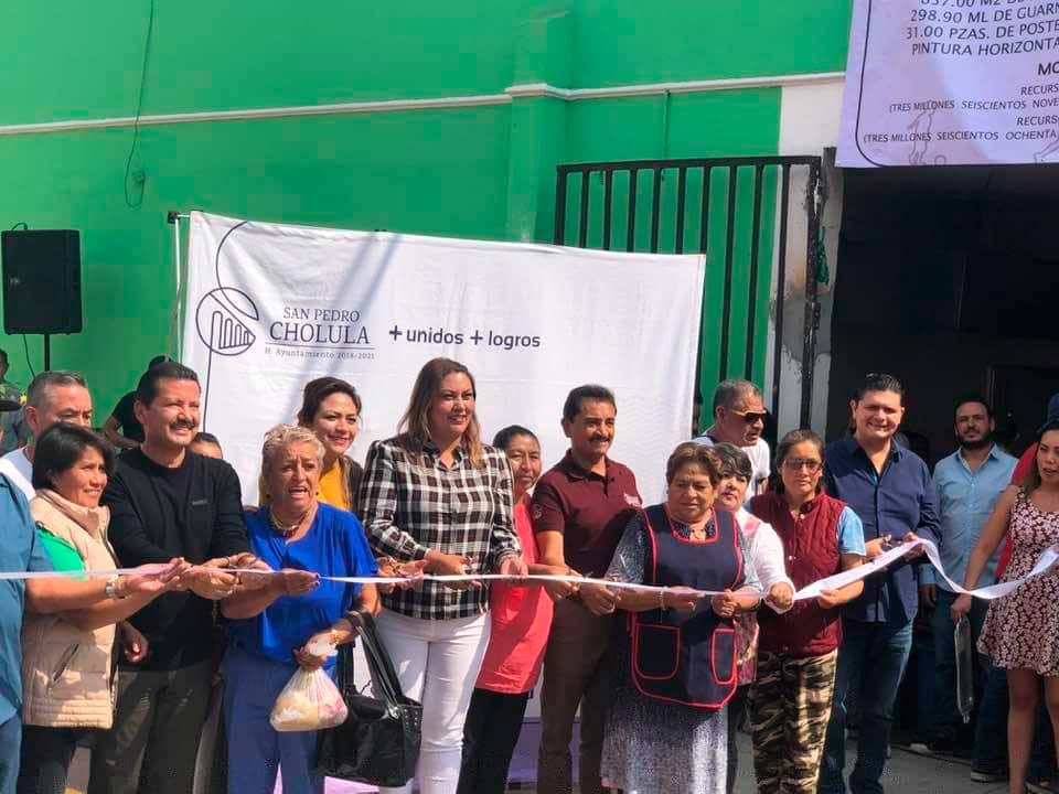 Afirma Geudiel Jiménez Flores que el presidente municipal Luis Alberto Arriaga, entrego la obra de pavimentación con concreto hidráulico en San Pedro Cholula