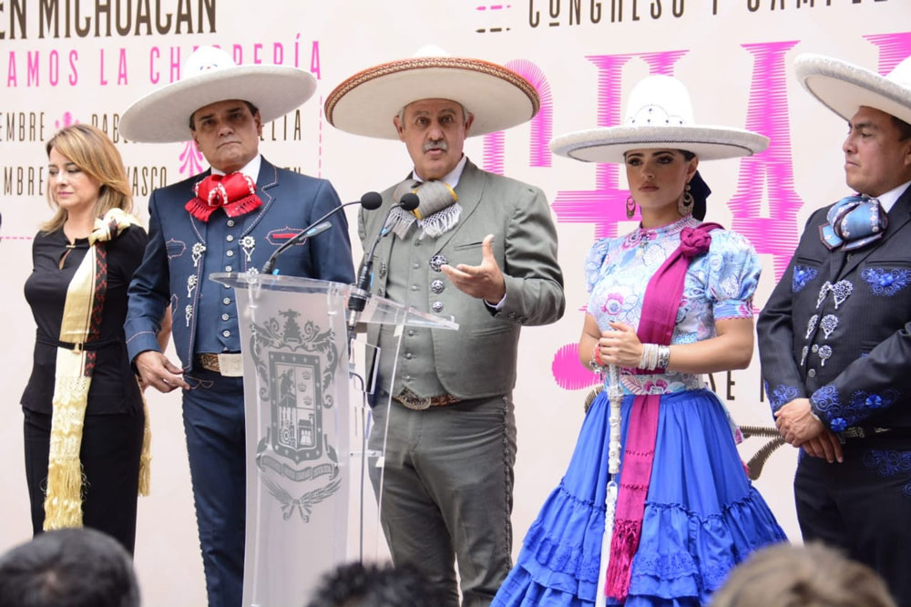 Presidente De La Federación Mexicana De Charreria Presente En Michoacan