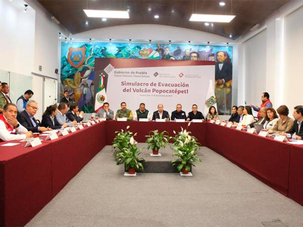 Puebla único estado a nivel nacional en realizar simulacros por contingencia volcánica: PC Nacional