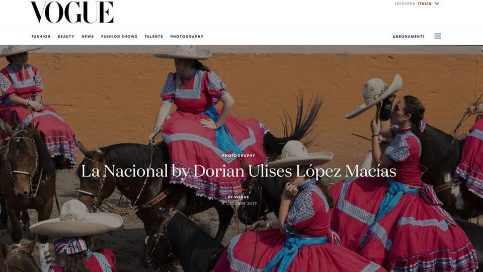 Vogue Italia muestra la Escaramuza Charra