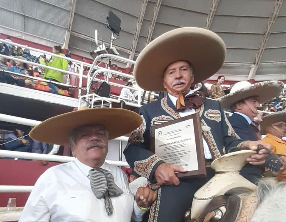 Arsenio Pérez Flores y Sergio Cacho Hernandez Morones en Homenaje a Charros Completos