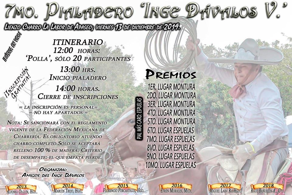 """7mo Pialadero """"Inge Dávalos""""  Lienzo Charro La Labor de Apaseo"""