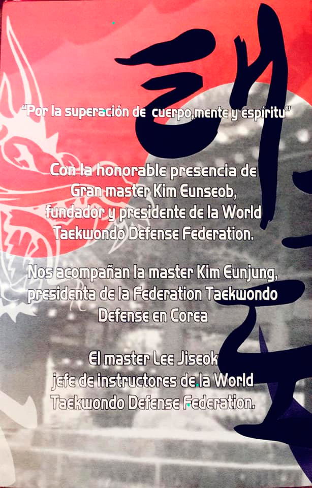 Graduación – Master Lee Jiseok jefe de entrenamiento del equipo de WTF de Corea