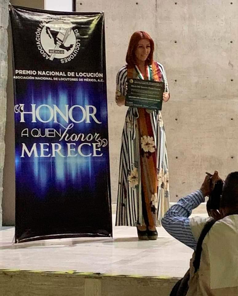 Premio Nacional de locución, Recibió Coco Guerra como locutora con contenido social en radio