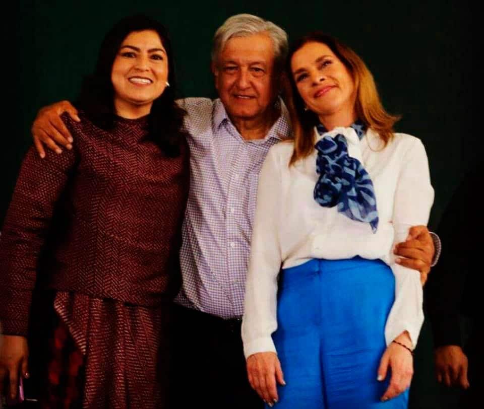 Claudia Rivera, Andres Manuel Lopez Obrador, Beatriz Gutiérrez Müller