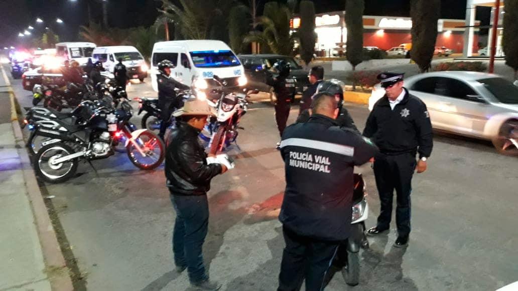 Realiza Vialidad Municipal operativo Casco Seguro
