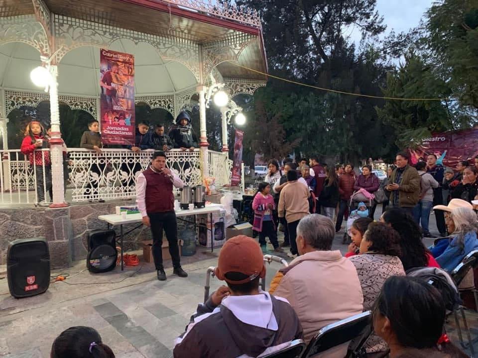 Visita la Junta Auxiliar de San. Francisco Totimehuacan el diputado Gabriel Biestro