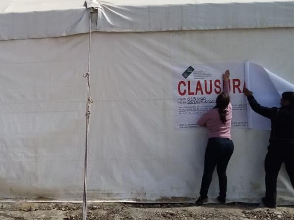Clausura Secretaría de Medio Ambiente obras en Juan C. Bonilla
