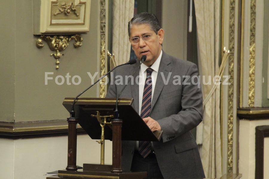Congreso del Estadorecibe al Fiscal General del Estado Gilberto Higuera Bernal parael desglose del informe del Gobernador LuisMiguel Barbosa