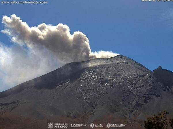 Sin cambios, el nivel de alerta del Popocatépetl