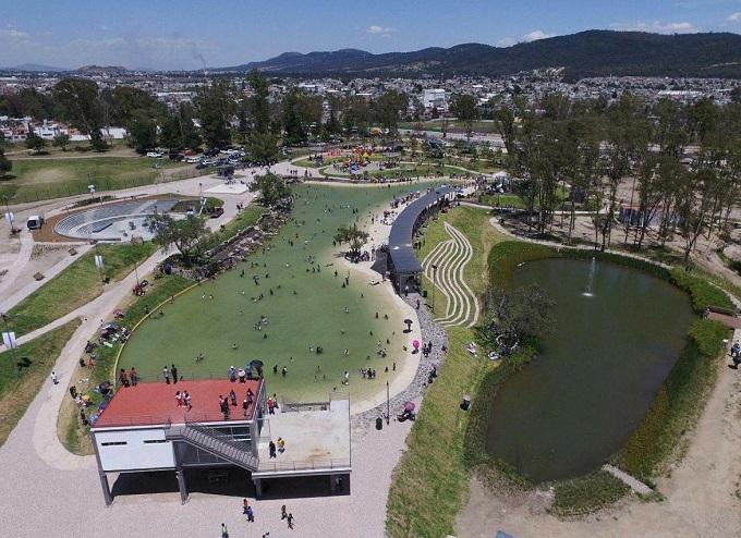Los espejos de agua del parque de Amalucan se convertirán en fuetes saltarinas: Beatriz MartínezCarreto