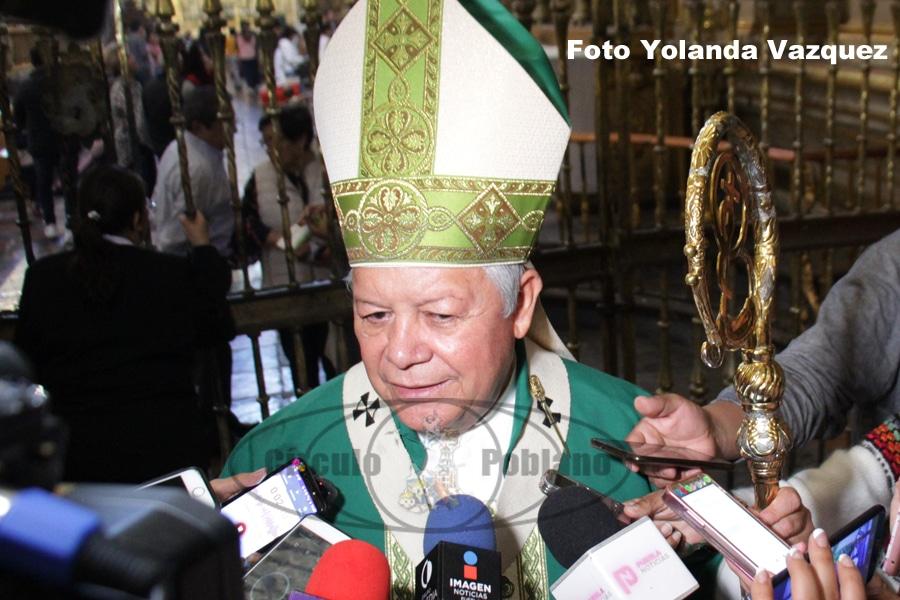 Arzobispo Víctor Sánchez apoya marcha de mujeres para el próximo 9 de marzo