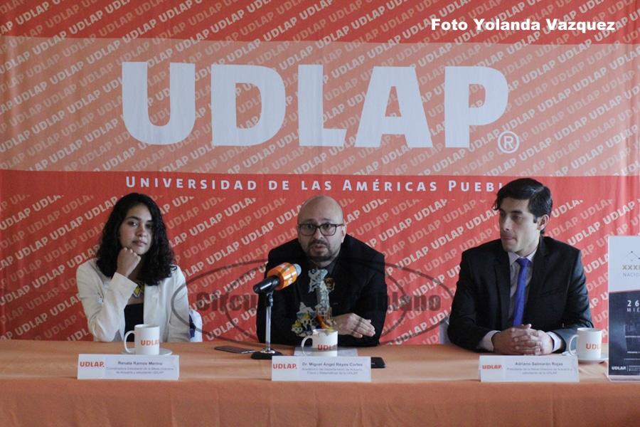 Da a conocer UDLAPel XXXI Congreso Nacional de Actuaría a celebrarse los dias 26 27 y 28 de febrero.