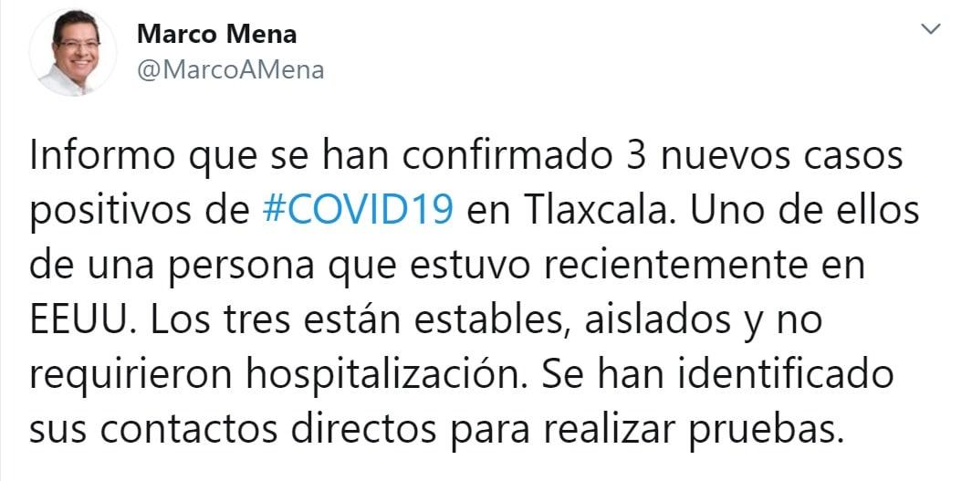 CONFIRMA SESA TRES NUEVOS CASOS DE COVID-19 EN TLAXCALA