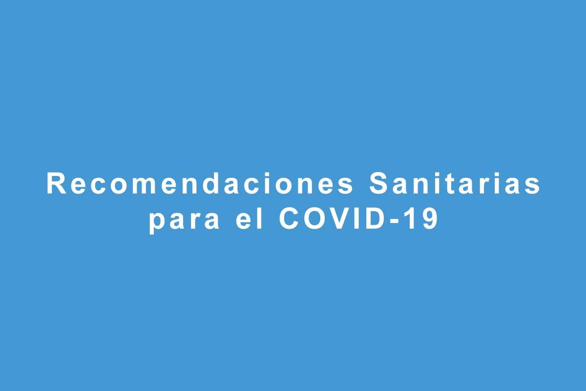 Recomendaciones para COVID-19