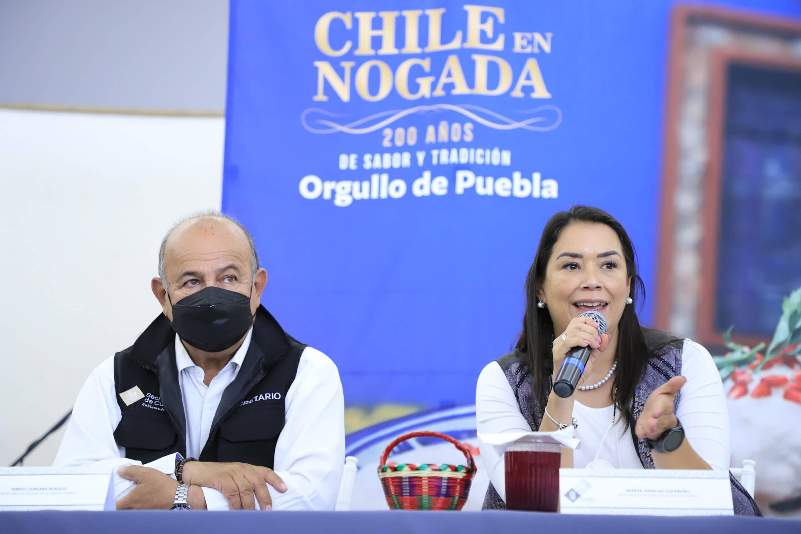 Realiza Secretaría de Turismo feria del Chile en Nogada en Tehuacán