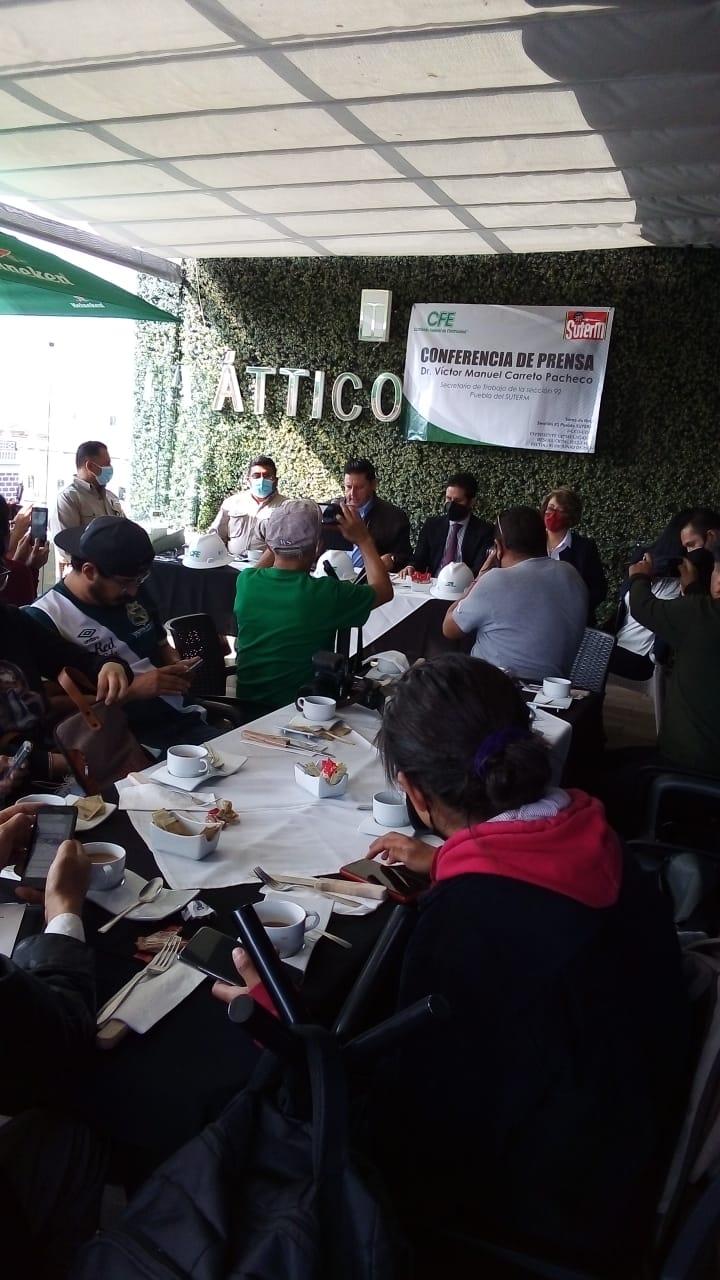 Denuncia Víctor Manuel Carreto del SUTERM-Puebla, persecución Sindical Nacional